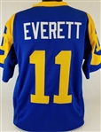 Jim Everett Los Angeles Rams Custom Blue/Yellow Home Jersey Mens 3XL