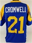 Nolan Cromwell Los Angeles Rams Custom Blue/Yellow Home Jersey Mens 3XL