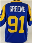 Kevin Greene Los Angeles Rams Custom Blue/Yellow Home Jersey Mens 3XL