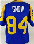 Jack Snow Los Angeles Rams Custom Blue/Yellow Home Jersey Mens 3XL