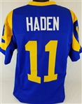 Pat Haden Los Angeles Rams Custom Blue/Yellow Home Jersey Mens 3XL