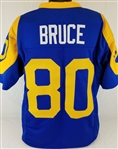 Isaac Bruce Los Angeles Rams Custom Blue/Yellow Home Jersey Mens 3XL