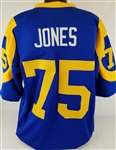 Deacon Jones Los Angeles Rams Custom Blue/Yellow Home Jersey Mens XL