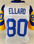 Henry Ellard Los Angeles Rams Custom White/Yellow Away Jersey Mens Large