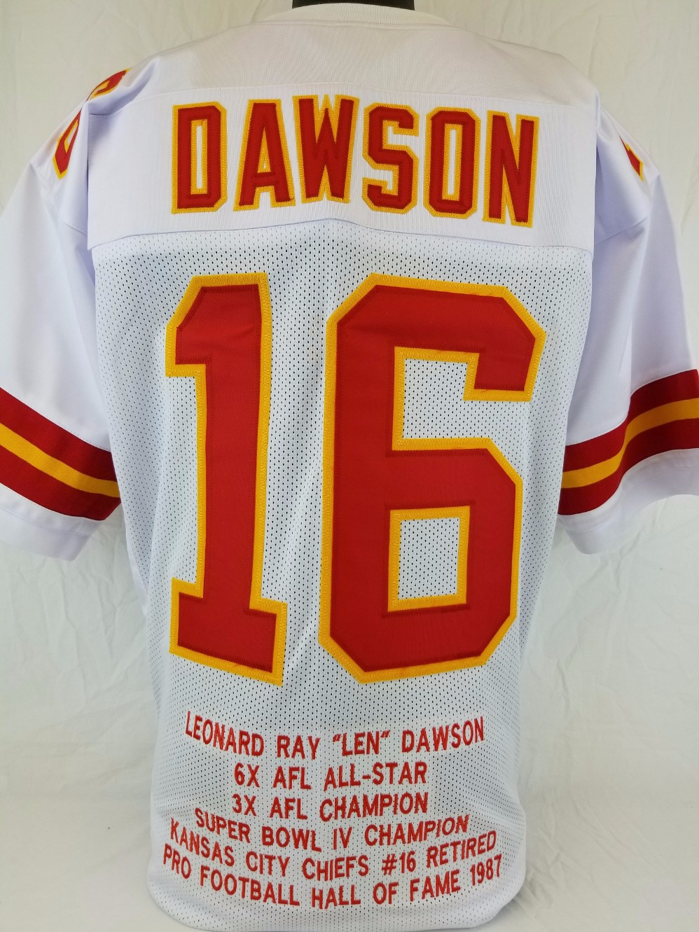 Discount Item Detail Len Dawson Kansas City Chiefs Custom Away Jersey with