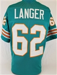 Jim Langer Miami Dolphins Custom Home Jersey Mens 2XL