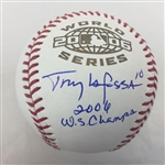 "Tony Larussa St. Louis Cardinals Signed ""2006 WS Champs"" 2006 World Series Baseball JSA COA"