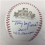 "Tony Larussa St. Louis Cardinals Signed ""2011 WS Champs"" 2011 World Series Baseball JSA COA"