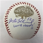 "Mike Redmond Florida Marlins Signed ""World Champs 03"" 2003 World Series Baseball JSA COA"