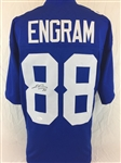 Evan Engram New York Giants Signed Blue Jersey JSA COA