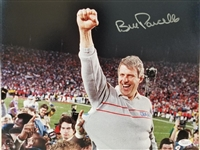 Bill Parcells New York Giants Signed 11x14 SB XXI Photo JSA Witnessed COA