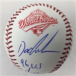"Doc Gooden New York Yankees Signed ""96 WS Champs"" 1996 World Series Baseball  JSA COA"