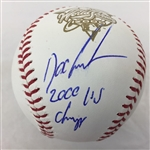 "Doc Gooden New York Yankees Signed ""2000 WS Champs"" 2000 World Series Baseball  JSA COA"