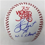 "Bucky Dent New York Yankees Signed ""78 WS Champs"" 1978 World Series Baseball  JSA COA"