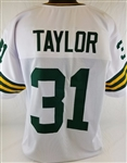 Jim Taylor Green Bay Packers Custom Away Jersey Mens 2XL