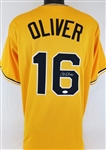 Al Oliver Pirates Signed Yellow Jersey JSA Witness Auto Autograph #WP609476