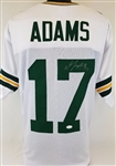 Davante Adams Packers Signed White Jersey JSA Witness Authentic Auto Autograph