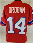 Steve Grogan New England Patriots Custom Alternate Jersey Mens 3XL