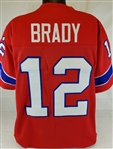 Tom Brady New England Patriots Custom Alternate Jersey Mens 3XL