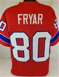 Irving Fryar New England Patriots Custom Alternate Jersey Mens 3XL