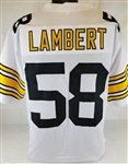 Jack Lambert Pittsburgh Steelers Custom Away Jersey Mens Large
