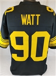 T.J. Watt Pittsburgh Steelers Custom Color Rush Jersey Mens Large