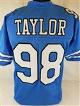 Lawrence Taylor North Carolina Tar Heels Custom Blue Football Jersey Mens 3XL