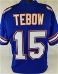 Tim Tebow Florida Gators Custom Blue Football Jersey Mens 3XL