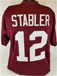 Ken Stabler Alabama Crimson Tide Custom Crimson Football Jersey Mens 2XL