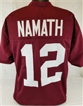 Joe Namath Alabama Crimson Tide Custom Crimson Football Jersey Mens 3XL
