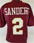 Deion Sanders Florida State Seminoles Custom Garnet Football Jersey Mens 2XL
