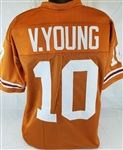 Vince Young Texas Longhorns Custom Orange Football Jersey Mens 3XL