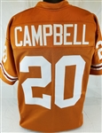 Earl Campbell Texas Longhorns Custom Orange Football Jersey Mens 2XL