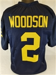 Charles Woodson Michigan Wolverines Custom Blue Football Jersey Mens 2XL