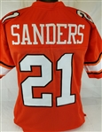 Barry Sanders Oklahoma State Cowboys Custom Orange Football Jersey Mens 2XL