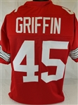 Archie Griffin Ohio State Buckeyes Custom Red Football Jersey Mens 2XL