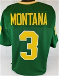 Joe Montana Notre Dame Fighting Irish Custom Green Football Jersey Mens 3XL